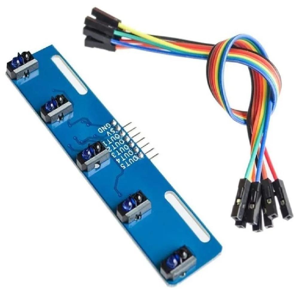 4 Sensores TCRT5000 en placa